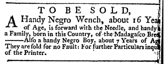 Jun 4 - New-York Gazette Weekly Post-Boy Slavery 2