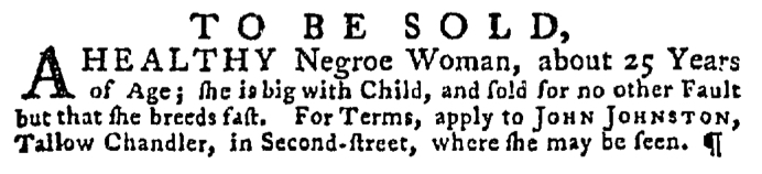 Jun 4 - Pennsylvania Gazette Supplement Slavery 2