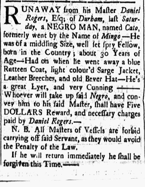 Jun 5 - New-Hampshire Gazette Slavery 1