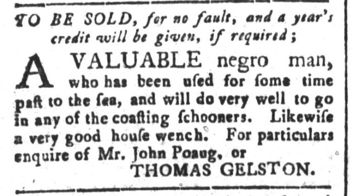 Jun 5 - South-Carolina and American General Gazette Slavery 1