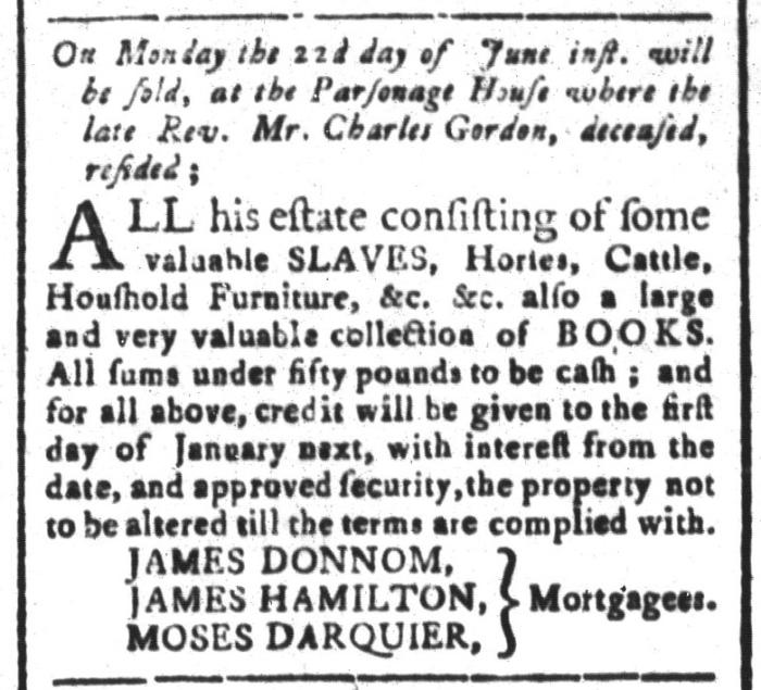 Jun 5 - South-Carolina and American General Gazette Slavery 2