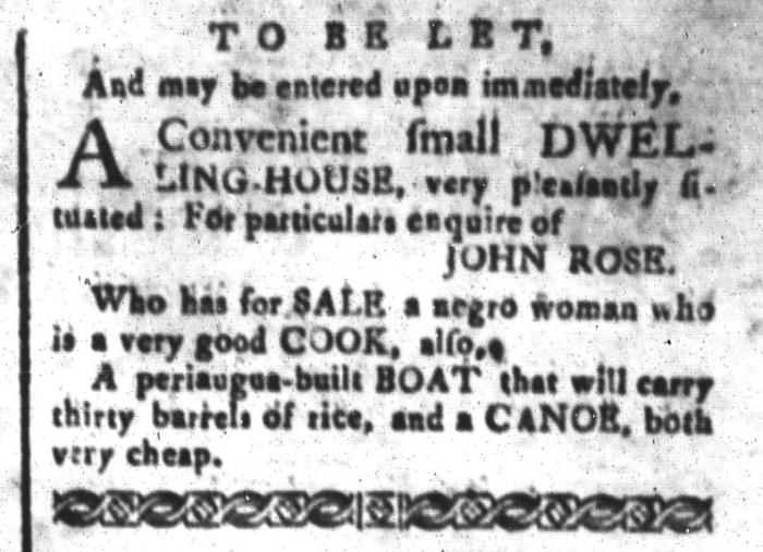 Jun 5 - South-Carolina and American General Gazette Slavery 3