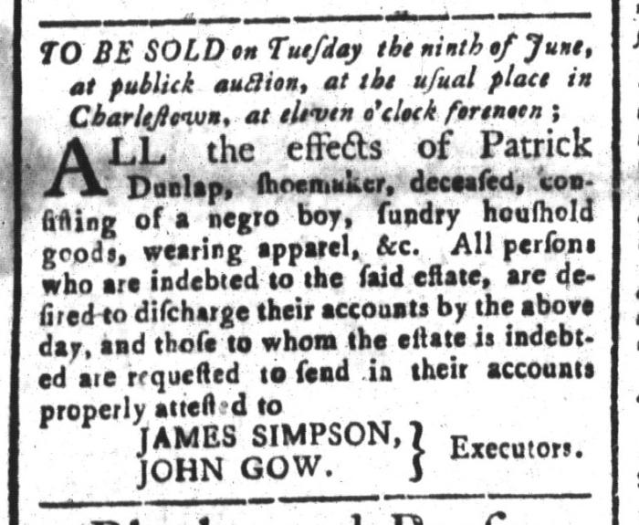 Jun 5 - South-Carolina and American General Gazette Slavery 7