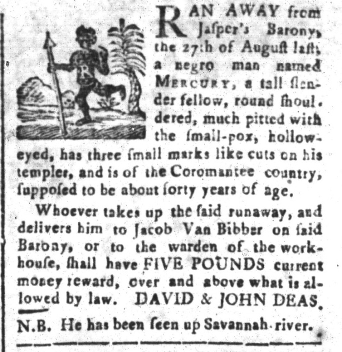 Jun 5 - South-Carolina and American General Gazette Slavery 9