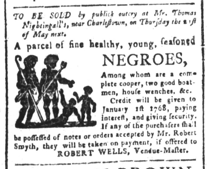 May 1 - South-Carolina and American General Gazette Slavery 3