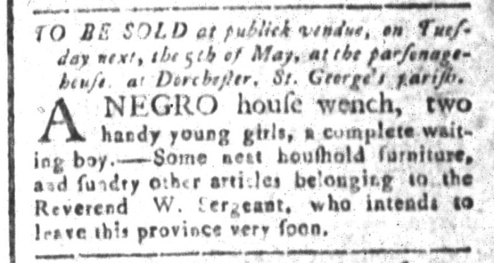 May 1 - South-Carolina and American General Gazette Slavery 6