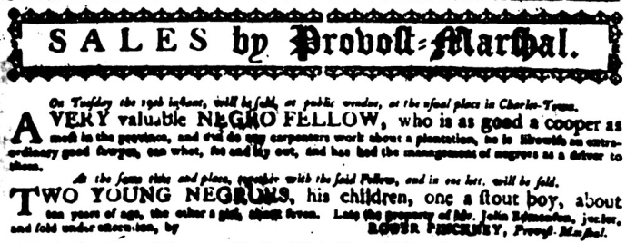 May 11 - South Carolina Gazette Slavery 5