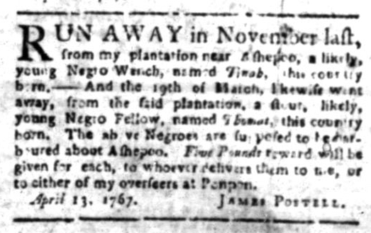 May 11 - South Carolina Gazette Slavery 7