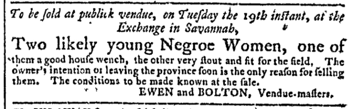 May 13 - Georgia Gazette Slavery 4