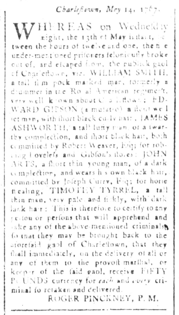 May 15 - South-Carolina and American General Gazette Slavery 4