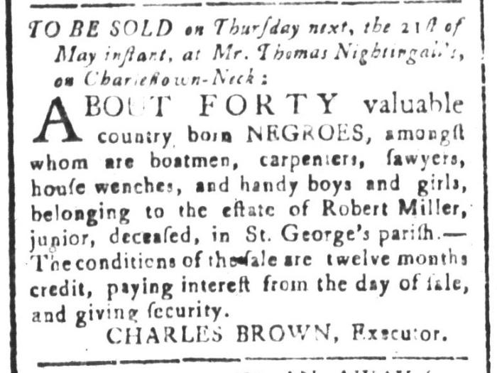 May 15 - South-Carolina and American General Gazette Slavery 7