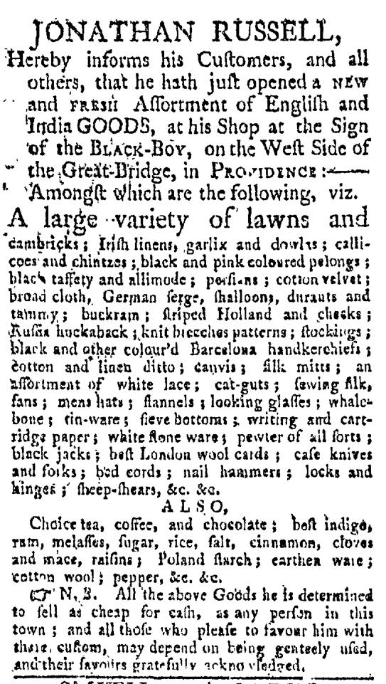 May 16 - Providence Gazette Slavery 1