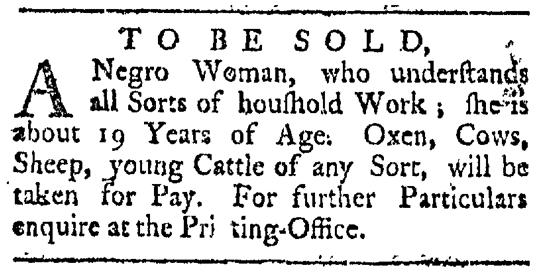 May 16 - Providence Gazette Slavery 2