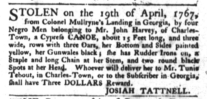 May 19 - South-Carolina Gazette and Country Journal Slavery 13