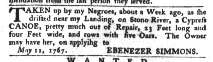 May 19 - South-Carolina Gazette and Country Journal Slavery 9