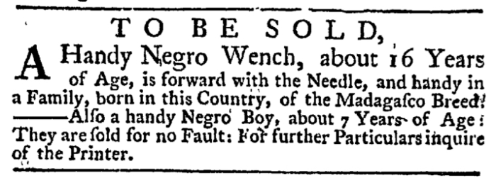 May 21 - New-York Gazette Weekly Post-Boy Slavery 1