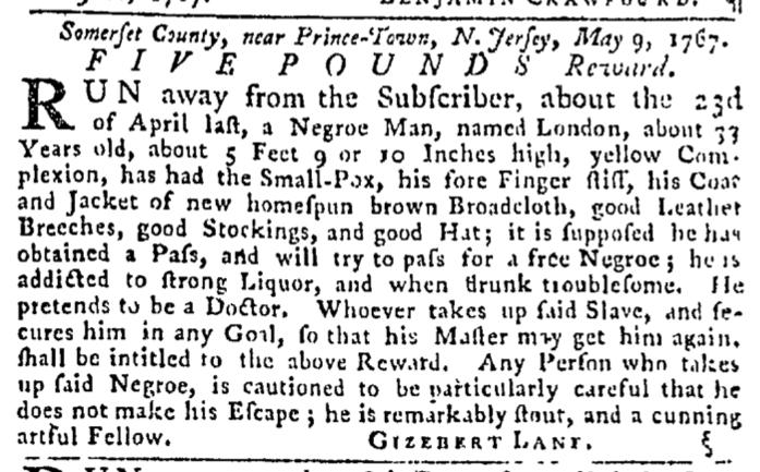 May 21 - Pennsylvania Gazette Slavery 2