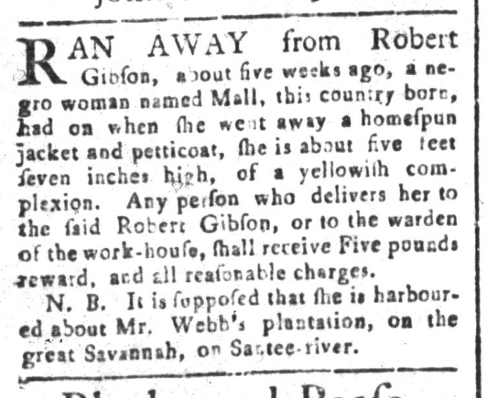 May 22 - South-Carolina and American General Gazette Slavery 6