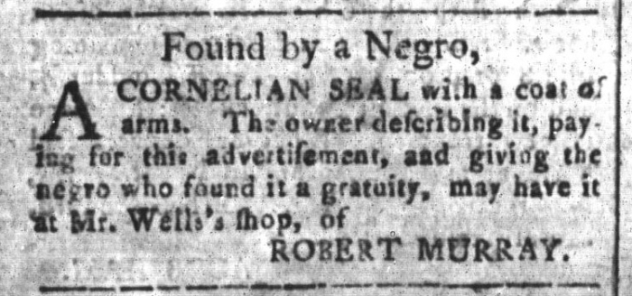May 22 - South-Carolina and American General Gazette Slavery 9
