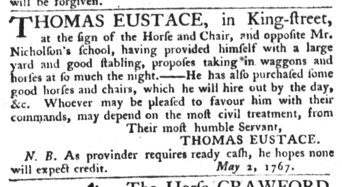 May 26 - 5:26:1767 South-Carolina Gazette and Country Journal