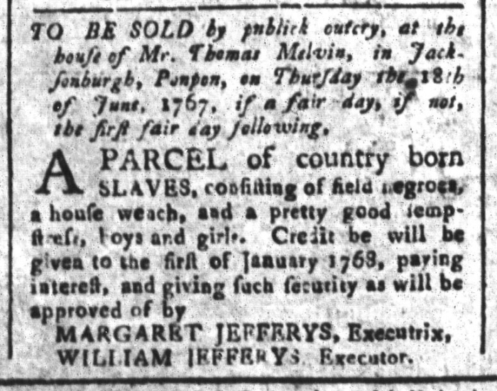 May 29 - South-Carolina and American General Gazette Slavery 11