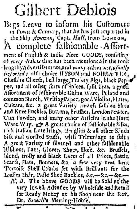 May 4 - 5:4:1767 Boston Evening-Post