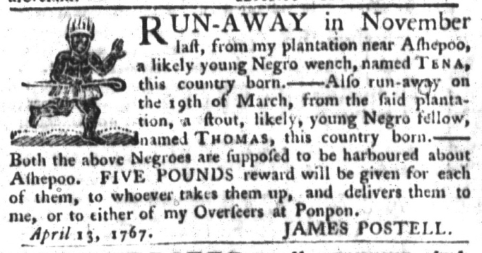 May 5 - South-Carolina Gazette and Country Journal Supplement Slavery 3