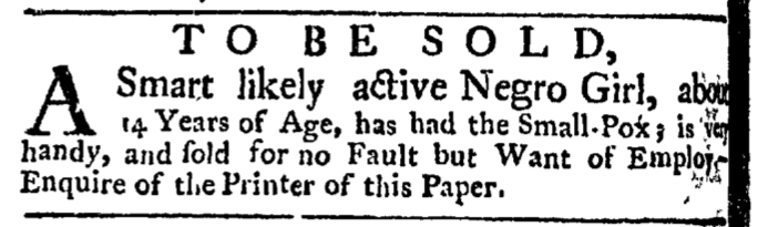 May 7 - New-York Gazette Weekly Post-Boy Slavery 1