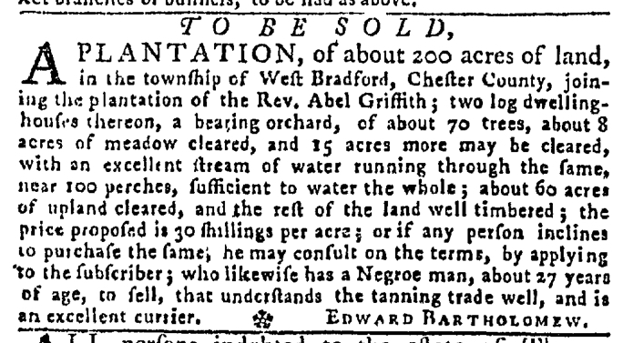 May 7 - Pennsylvania Gazette Slavery 2