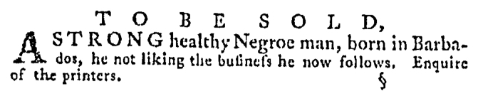 May 7 - Pennsylvania Gazette Supplement Slavery 4