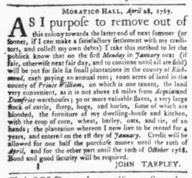 May 7 - Virginia Gazette Slavery 5