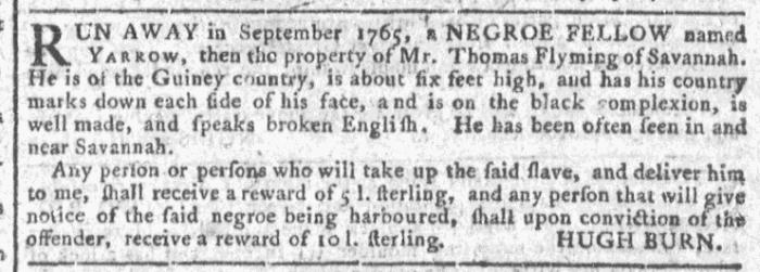 Jul 1 - Georgia Gazette Slavery 5