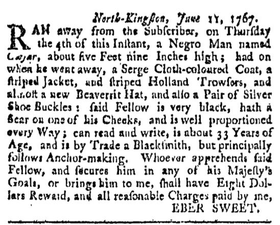 Jul 11 - Providence Gazette Slavery 1