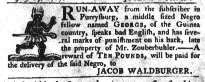 Jul 14 - South-Carolina Gazette and Country Journal Slavery 1
