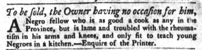 Jul 14 - South-Carolina Gazette and Country Journal Slavery 2