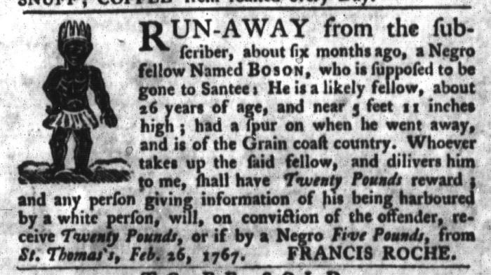 Jul 14 - South-Carolina Gazette and Country Journal Slavery 3