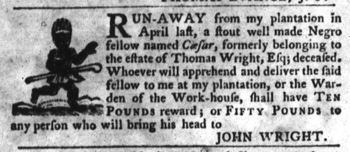 Jul 14 - South-Carolina Gazette and Country Journal Slavery 8