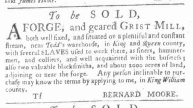 Jul 16 - Virginia Gazette Slavery 3