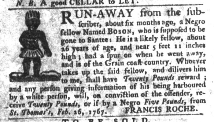 Jul 21 - South-Carolina Gazette and Country Journal Slavery 11