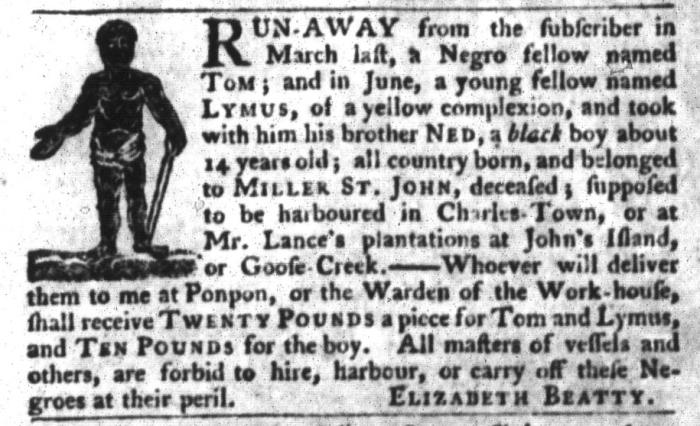 Jul 21 - South-Carolina Gazette and Country Journal Slavery 5