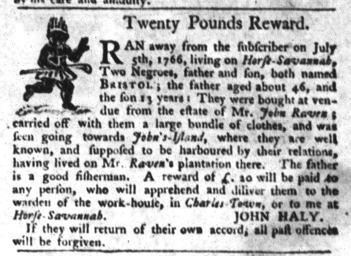Jul 21 - South-Carolina Gazette and Country Journal Slavery 6