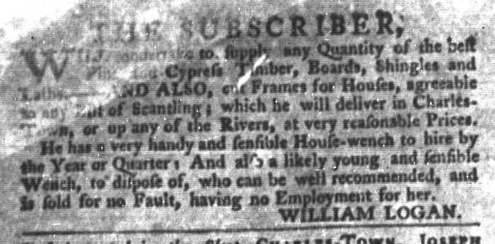 Jul 21 - South-Carolina Gazette and Country Journal Slavery 8