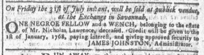 Jul 22 - Georgia Gazette Slavery 2