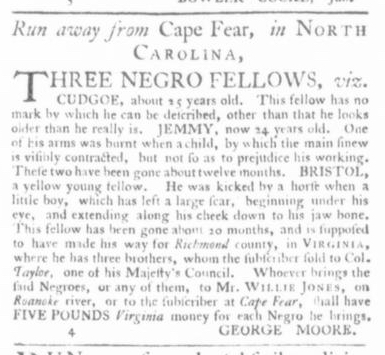 Jul 9 - Virginia Gazette Slavery 1