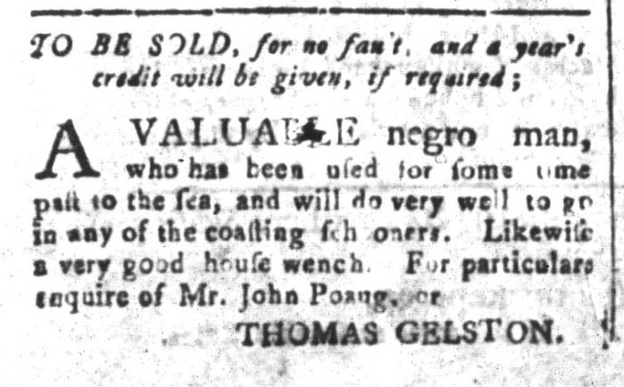 Jun 12 - South-Carolina and American General Gazette Slavery 3