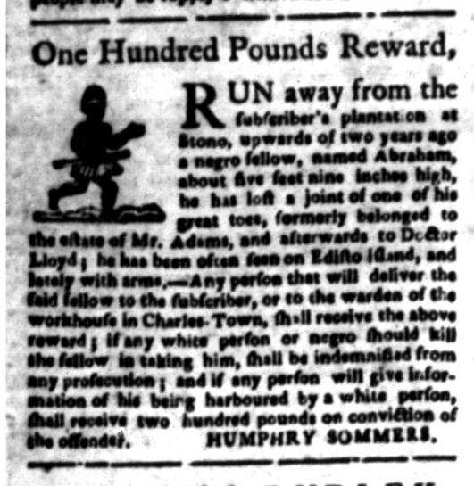 Jun 15 - South Carolina Gazette Slavery 8