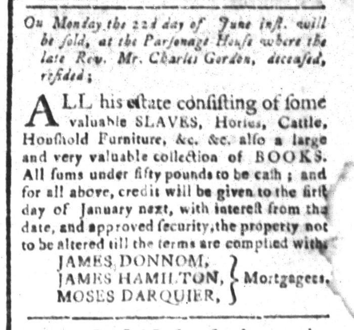 Jun 19 - South-Carolina and American General Gazette Slavery 4