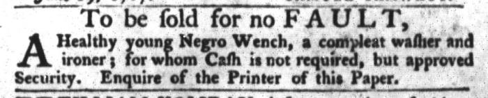 Jun 23 - South-Carolina Gazette and Country Journal Slavery 2