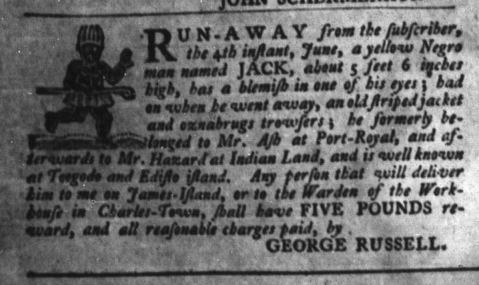 Jun 23 - South-Carolina Gazette and Country Journal Slavery 5