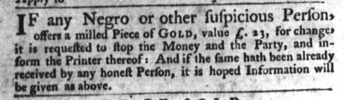Jun 23 - South-Carolina Gazette and Country Journal Slavery 6